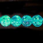 Pimedas helendavad läbipaistvad klaashelmed 10mm