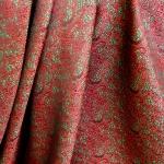 Sissekootud mustriga (jacquard) elegantne kunstsiidist kangas 619178