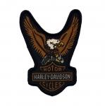 Triigitav Aplikatsioon; Kotkavapp, Harley Davidson 8,5x6,5cm