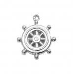 Plastic Ship`s Wheel Charm / 30 x 5mm