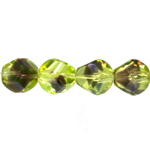 Irregularly-shaped faceted glass beads, 14mm