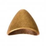 Suur lapik, kellukakujuline kee lõpetuslehter / Bell Bead Cup / 20 x 16 x 12mm