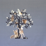 Metsaloomade ja võlupuuga, veniv puuvillasegu kangas, kangakupongi mõõtmed: 150x120cm, 12229