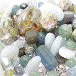 Pärlisegu Rohekas-hallikates toonides eri suurusega pärlitest 5-20mm, 100/50g pakk