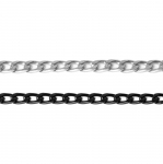 Decorative metal chain (aluminum) 11 x 6,8 x 2 mm