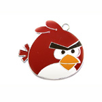 Metal `Angry Birds` Charm / 50 x 50mm