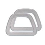 Trapets-kotisangadad laiusega 12cm Piimjas hõbetähnidega, Bag handles D-shape Crystal Clover 6332