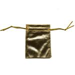 Riidest metallik pidulik kinkekott 9x6,5cm
