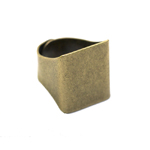 Sõrmusetoorik suure kandilise plaadiga / Rectangular Finger Ring Base / 20 x 18mm