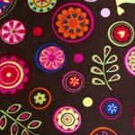 Puuvillane velvetkangas, lilleline 123.805