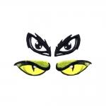 Hot-fix eyes, 2 pair, 3,5 x 2 cm and 4 x 2 cm
