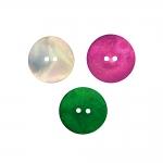 Naturaalsed teokarbist nööbid, värvilised, kahe auguga 23mm, 36