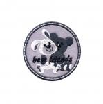 Triigitav Aplikatsioon; Jänku ja mõmmi, suured sõbrad `best friends`/ Embroidered Iron-On Patch;/ 6cm