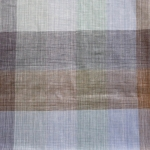 Ruudumustriga 100% linane kangas, 150cm