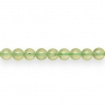 Ümarad naturaalsest rohelisest kvartisist 6mm helmed