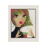 Tikkimiskomplekt Tüdruk kingitusega / Art. 1016 / Riolis