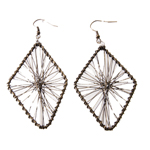 Diamond Wire Earring; 2pc / 60mm