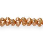 Piklik, lopergune, triibumustriga pärlmutter 8x4mm klaashelmes, Preciosa