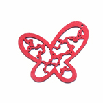 Wooden Butterfly Pendant / 48 x 40 x 2mm
