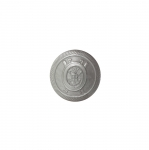 Metallist, hõbedane, reljeefse mustriga, kannaga nööp 16mm, 26L