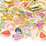 Plastic Tear Drop Charm; 10pc / 13 x 6mm