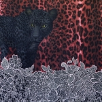 Leopardiga trikotaažkangas, 200x150cm kupongina, 14923