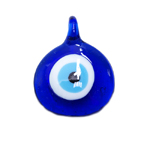 Glass `Evil Eye` Charm / 55 x 40mm