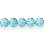 Ümarad tahulised läbipaistvad klaashelmed 12mm
