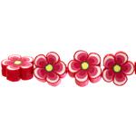 Kirjud, mustrilised, polümeersavist lillelised lapikud helmed 14-6mm
