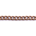 Decorative metal chain (aluminum) 8,5 x 7 x 2 mm