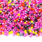Erivärviliste toruhelmeste segu suuruses 2,3-2,5 mm, Preciosa
