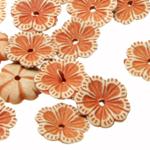 Lilleõiekujuline plastikhelmed 12x2mm