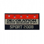 Triigitav Aplikatsioon `Decoration, Fashion Decoration Sport` Sporditeemaline logo 8x4cm