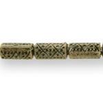 Torujas antiikse reljeefse mustriga plasthelmed 14x8mm