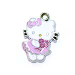 Metal `Hello Kitty` Charm / 22 x 16mm