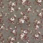 Roosimustriga velvet, puuvillane kangas, 112cm, 85595