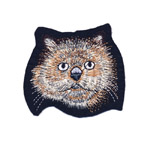 Embroidered Iron-On Patch; Cat Face / 9,5 x 8,5cm