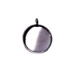 Ripatsi toorik liimitava medaljoni pesaga / Circular Pendant Base / 16 x 2mm