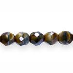 Ümarad tahulised segatud värvidega klaashelmed 8mm