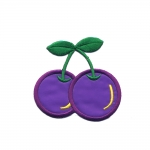 Triigitav Aplikatsioon; Kirsid / Embroidered Iron-On Patch; Cherries / 7 x 7cm