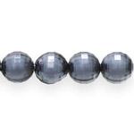Pärl-pärlis tahulised ümarad klaasjad akrüülhelmed 14mm