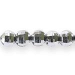 Ümarad, tahulised metallilaadsed plastikhelmed 10mm