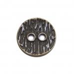 Lihtne metallnööp puukoore mustriga 15mm, 24L