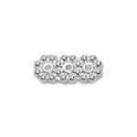 Antiikse mustriga vahedetail, kolme auguga / 3-Hole Cord Spacer Bar with Flower Pattern / 13 x 5,5mm