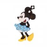 Minnie Hiir täpilise seelikuga, kannaga plastiknööp, 35x21mm/50L