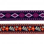Värvilised mustrilised paelad / Half cotton laces / 20mm