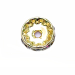 Disk Jewellery Spacer with Rhinestones / 12 x 3mm