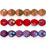 Traditional Czech glass round faceted beads, Jablonex, 12mm
