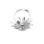 Sõrmusetoorik suure lillega / Flower Finger Ring Base / 23mm