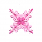 Triigitav Aplikatsioon; Lumehelbetaoline ornament / Embroidered Iron-On Patch; Snowflake Ornament / 7 x 5,5cm